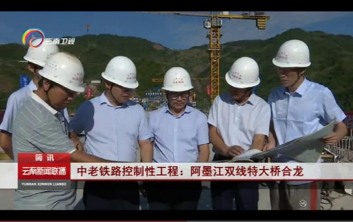 [云南新闻联播]中老铁路控制性工程:阿墨江双线特大桥合龙