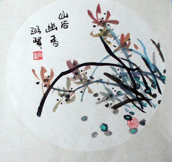 邓友左,严正明原来莫说画画,用毛笔写字都罕见,经过几年历练,画技