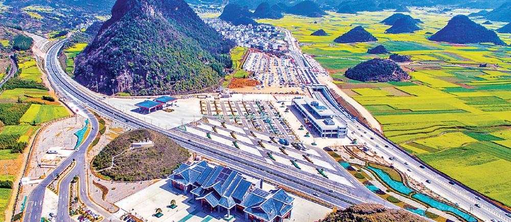 国道G324线新建金鸡服务区和江召公路停车…
